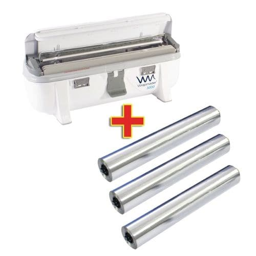Special Offer Wrapmaster 3000 Dispenser and 3 x 90m Foil
